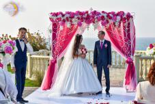 Свадьба на берегу моря Крым. Символическая свадьба. Церемония регистрации брака