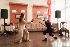 Бой на свадьбе Свадьбе в стиле Средневековья