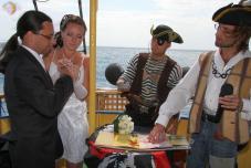 Пиратская свадьба. Тематические свадьбы. Пираты. Выездная регистрация Пираты