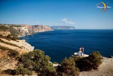 Выездная церемония в Крыму. Места для выездной церемонии. Крым. Вид на море