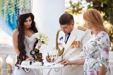 Символическая церемония. Крым. Церемония на берегу моря. Регистрация брака Крыму